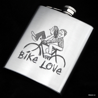 Nerezová placatka - Bike Love 2.